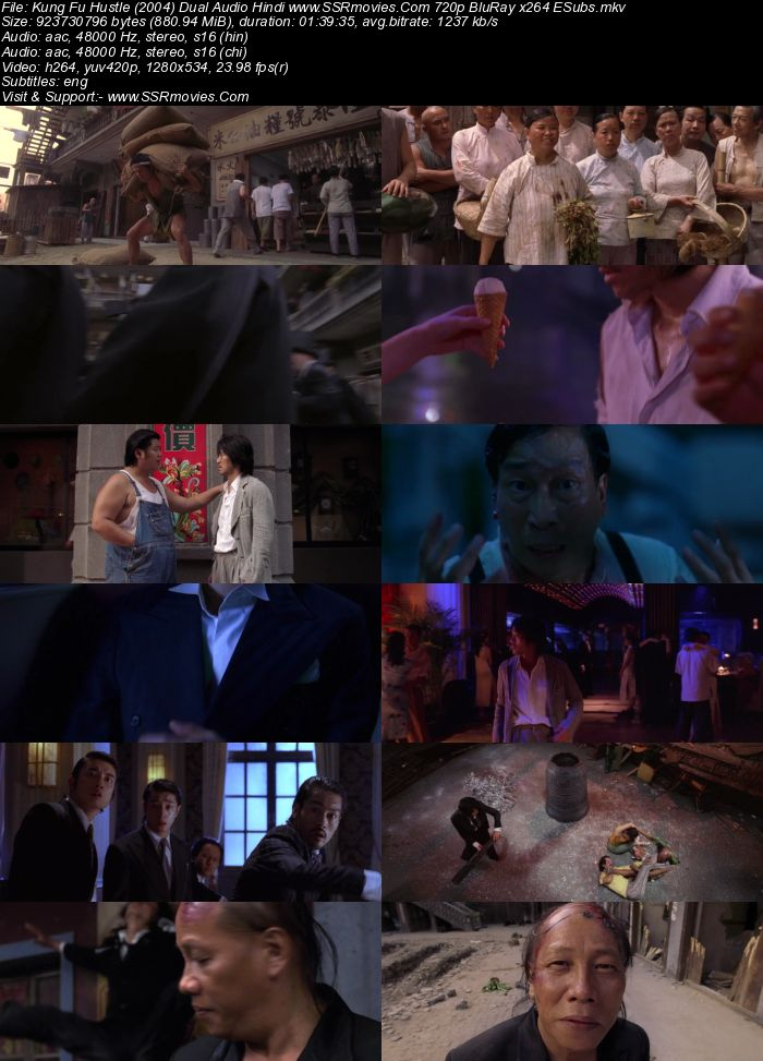 Kung Fu Hustle (2004) Dual Audio Hindi 480p BluRay 300MB