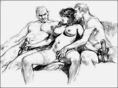 erotic sketches threesome