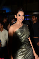 Rakul Preet Singh in Shining Glittering Golden Half Shoulder Gown at 64th Jio Filmfare Awards South ~  Exclusive 013.JPG