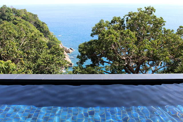 Private infinity pool at Paresa Phuket, Thailand | travel blog