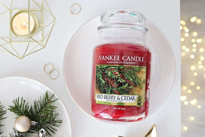 yankee candle red berry & cedar zapach limitowany