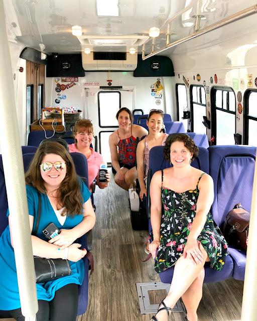 All of Cville Hop On's 14 passenger tour buses come well stocked with snacks & water.