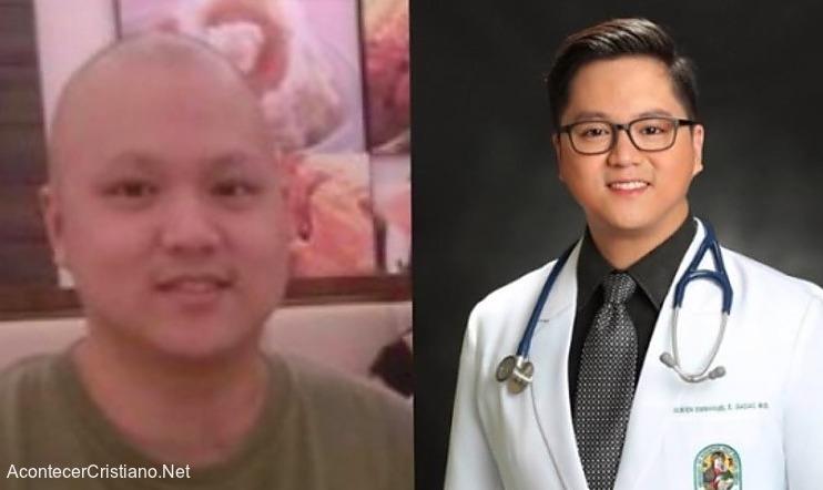Joven sanado de cáncer se recibe de médico para ayudar a combatir la enfermedad