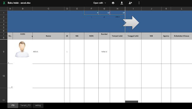 Download Format Buku Induk Siswa Dalam Aplikasi Excel Terbaru