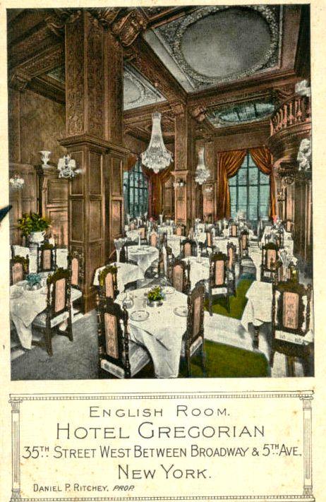 Daytonian In Manhattan: The 1903 Hotel Gregorian -- Nos
