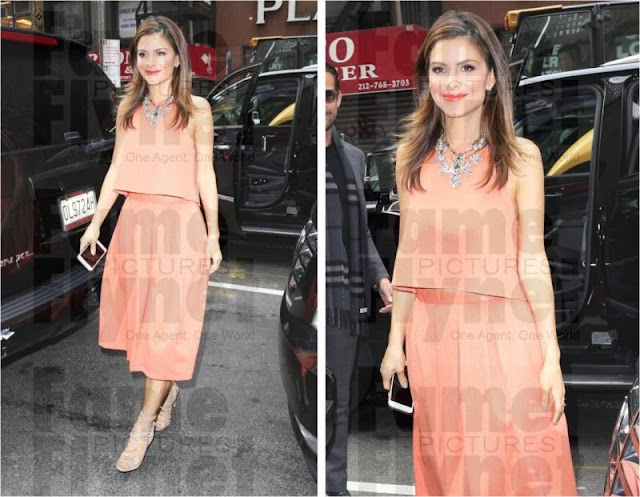Maria Menounos in Peach
