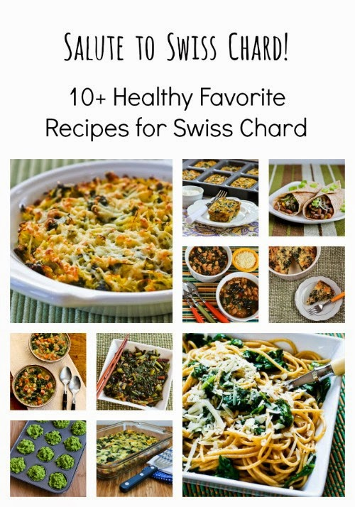 Salute to Swiss Chard and 10+ Favorite Healthy Swiss Chard Recipes found on KalynsKitchen.com