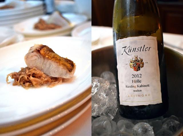 Riesling-Sauerkraut mit und Zander und Hochheimer Hölle Riesling Kabinett