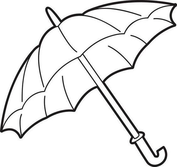 Tranh tô màu cái ô