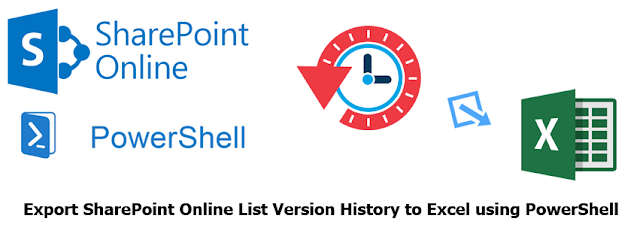 sharepoint online export list version history to excel using powershell