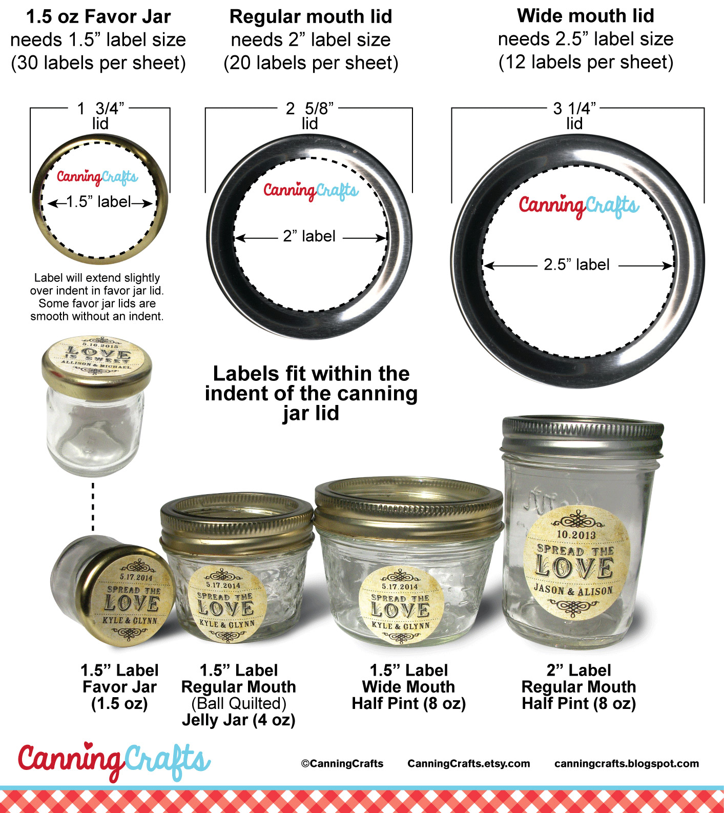 Colorful Adhesive Canning Jar Labels: Canning Jar Label and Cloth ...