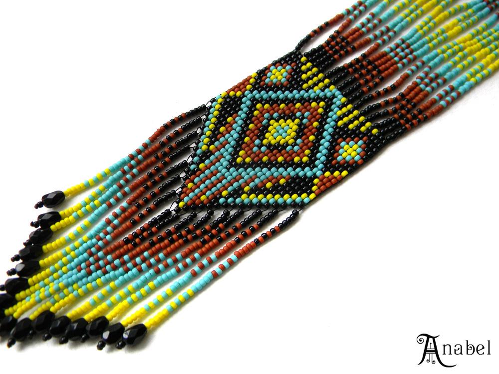 украшения от анабель гердан гайтан колье из бисера африка этно