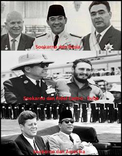 Soekarno dan pejabat negara lainnya
