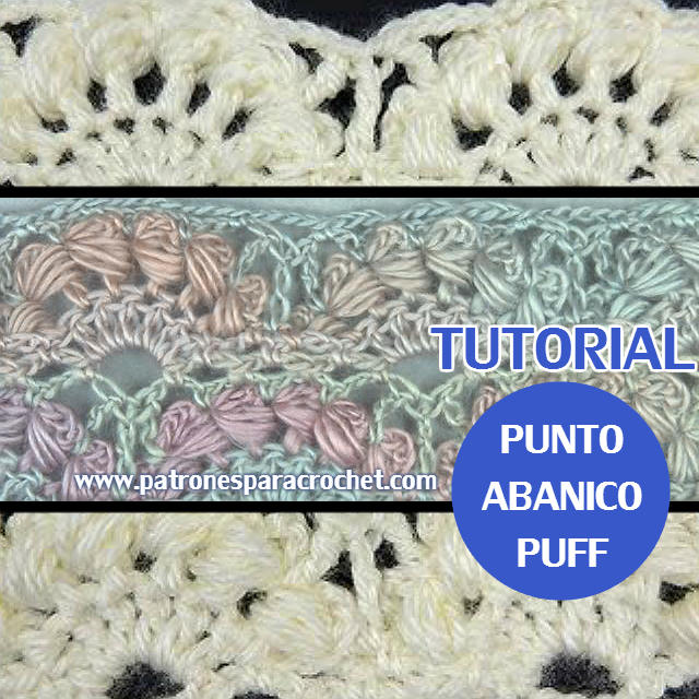 Cómo Tejer Punto Abanico Puff al Crochet / Tutoriales en video ...