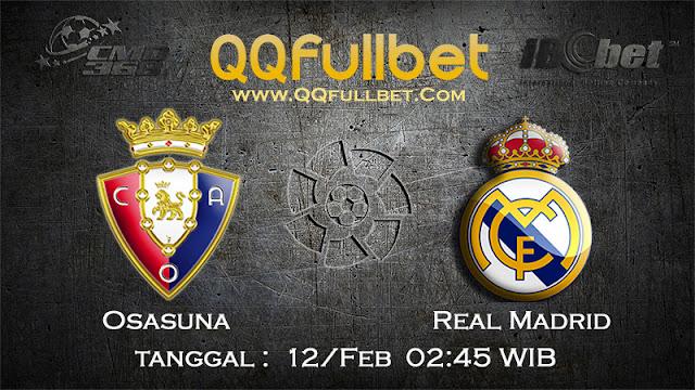 PREDIKSIBOLA - PREDIKSI TARUHAN OSASUNA VS REAL MADRID 12 FEBRUARI 2017 (LA LIGA SPANYOL)