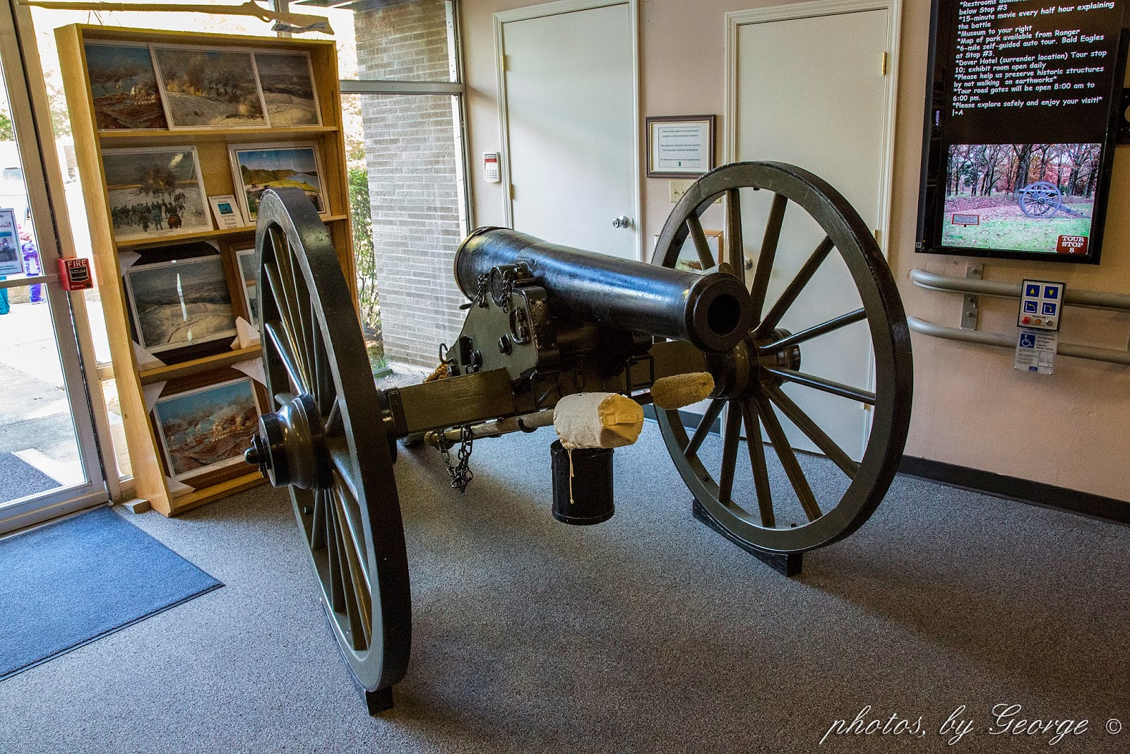 Once Outside We Started The Tour Right Outside The Door Were A Cannon And Caisson This One Was Made In 1861 By C A Co In Boston