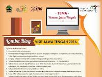 Lomba menulis blog visit Jawa Tengah 2016