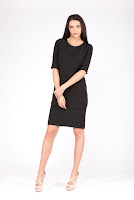Rochie negra din stofa KATE (Ama Fashion)