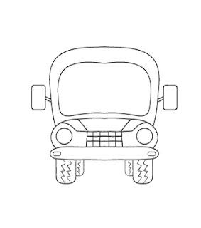 download gambar bus untuk diwarnai