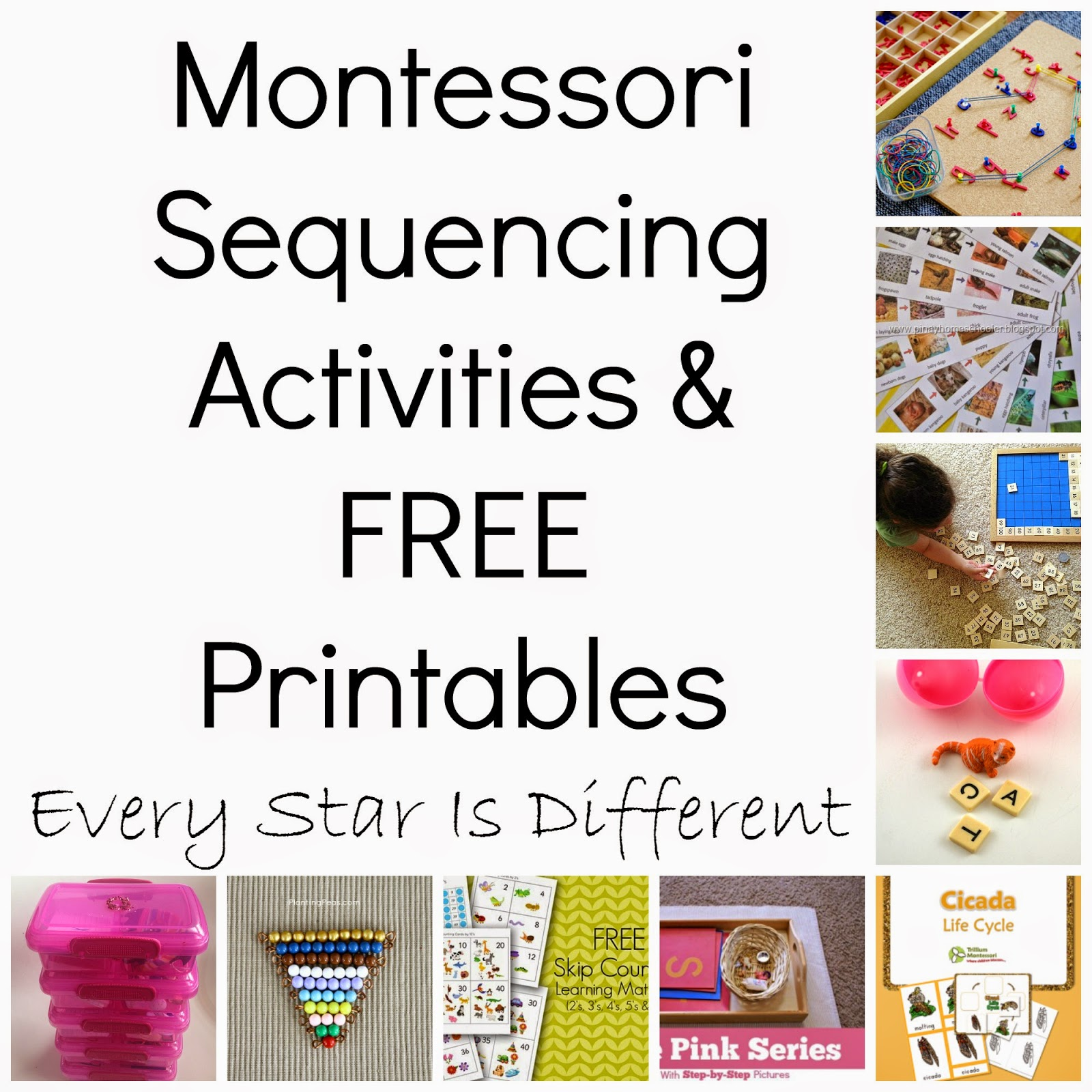 Montessori-inspired Sequencing Activities \u0026 FREE Printables (KLP Linky  Party) - Every Star Is Different [ 1600 x 1600 Pixel ]