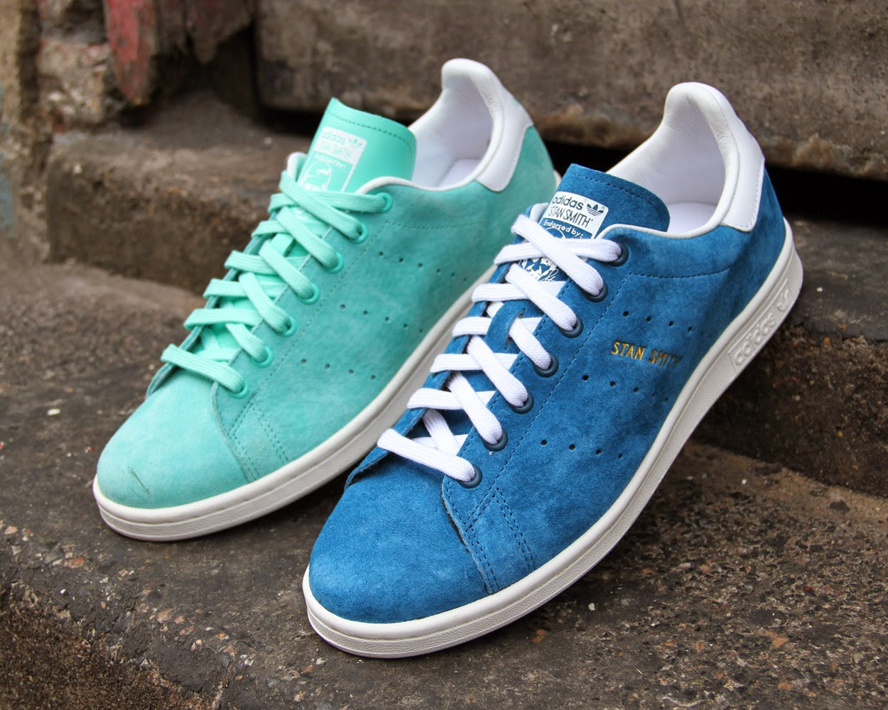 new concept 1f7db 05c67 Adidas Stan Smith Daim - Vert Pastel