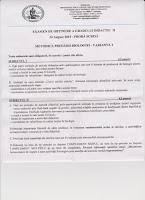 Subiecte gradul II biologie - Constanta august 2015
