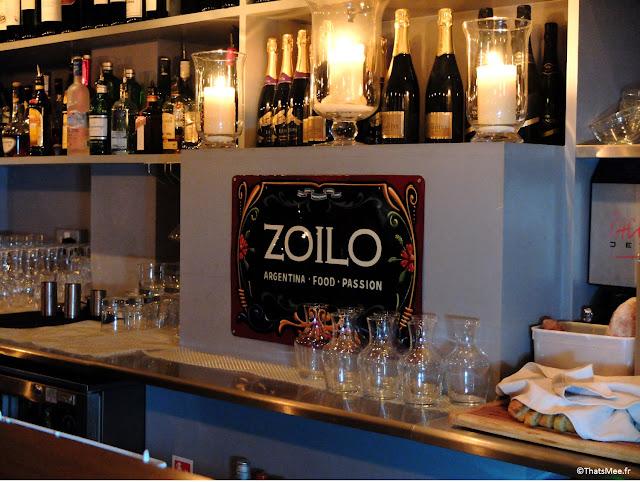 Bar bleu du restaurant chic argentin Zoilo Londres