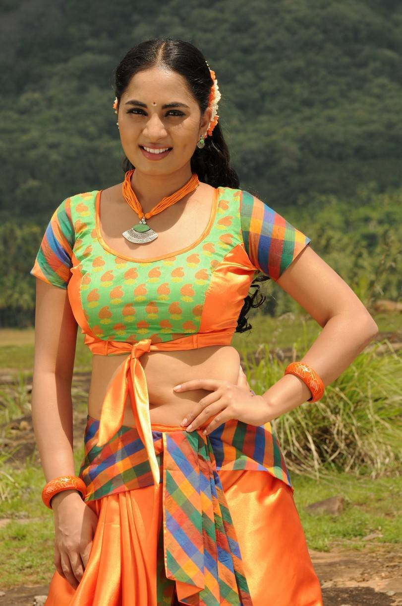 Actress Srushti Dange Latest Cute Hot Navel Show Spicy Photos Gallery From Navarasa Thilagam Movie