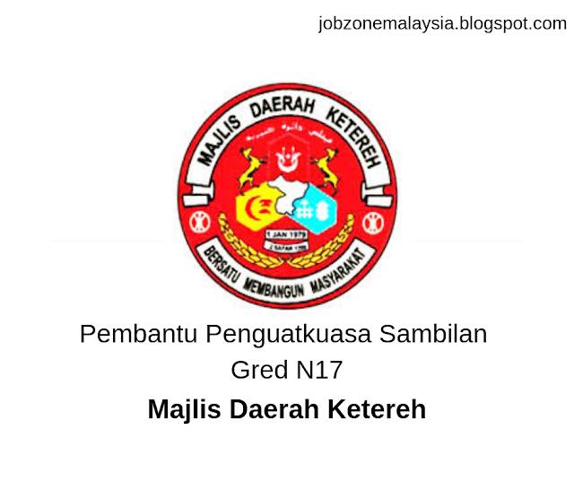 Penolong Pegawai Tadbir Gred N29 - Majlis Daerah Ketereh