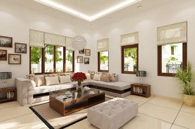 Thiết kế phòng khách trẻ trung, tràn ngập ánh sáng và vượng khí