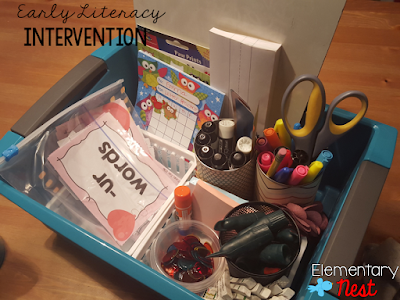 Early Literacy Intervention- hands on centers for primary students struggling with early literacy. Covers most intervention building blocks to build a strong reader- monthly intervention sets