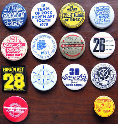 Fore n' Aft rock club buttons
