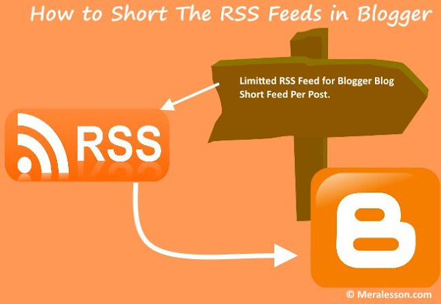 how to limit your rss feed in blogger