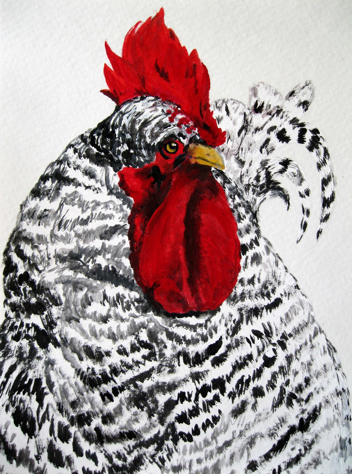 Donna S Art At Mourning Dove Cottage A Rooster Painting
