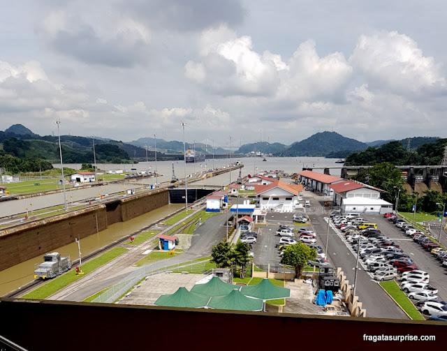 Eclusas de Miraflores, no Canal do Panamá