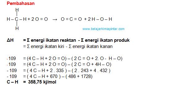 Pembahasan soal soal termokimia bagian 1 ilmu kimia diketahui energi ikatan sebagai berikut c c 614 kjmol c c 384 kjmol c o 358 kjmol c h 413 kjmol o h 463 kjmol ccuart Gallery