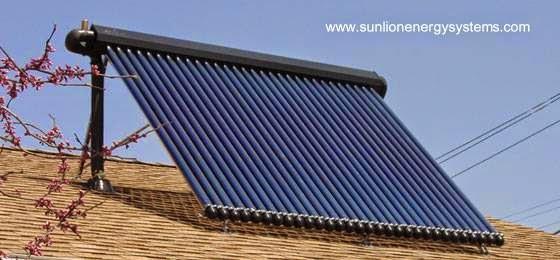 Calefón solar calentador de agua para uso doméstico