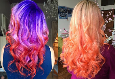 Color of Sunset Hair - Hair Color Trend 2017 for Tan Skin