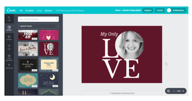 Design Kartu Ucapan Cinta