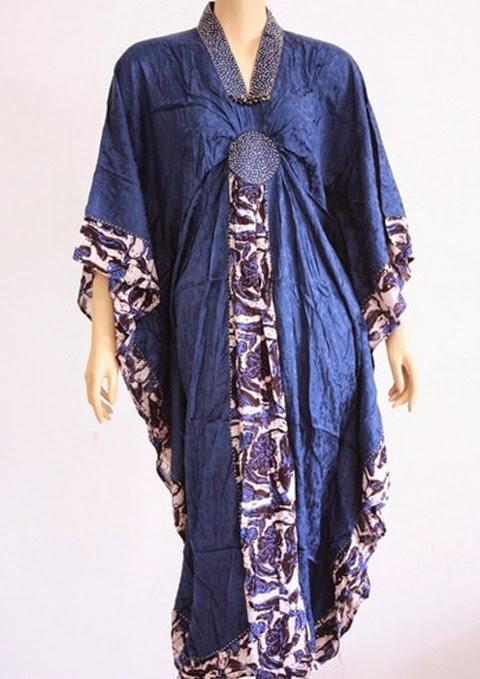 model baju gamis modern batik