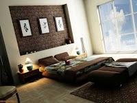 Wandgestaltung Schlafzimmer Braun
