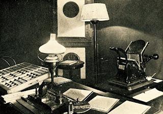 Odtworzony warsztat pracy konspiracyjnej J. Piłsudskiego w Łodzi