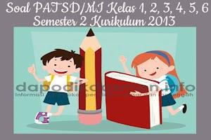 Soal PAT UKK SD MI Kelas 1 2 3 4 5 6 Semester 2 Kurikulum 2013 Tahun 2019