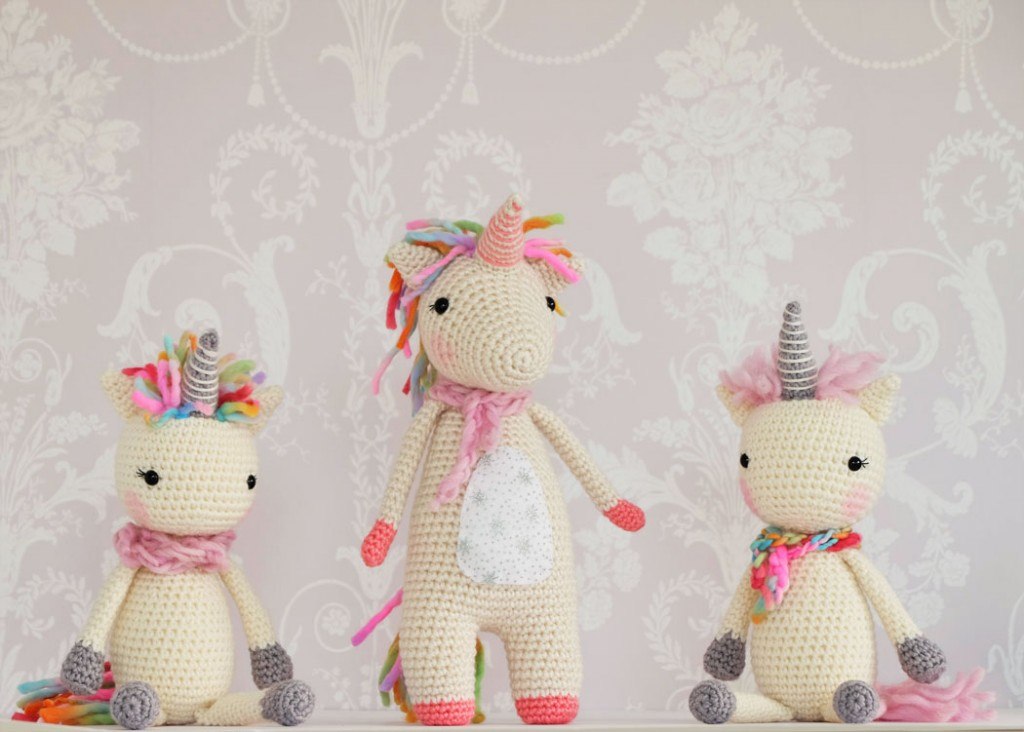 Little Yarn Friends • Crochet Pattern: Lil' Baby Unicorn | 732x1024
