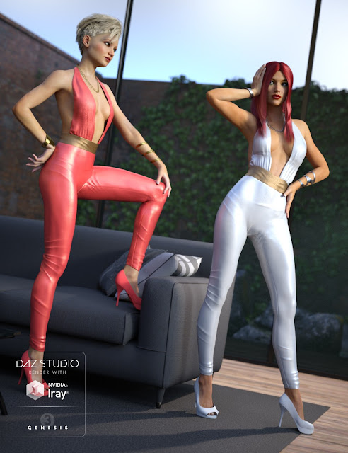 Hot Jumpsuit Outfit for Genesis 3 Female