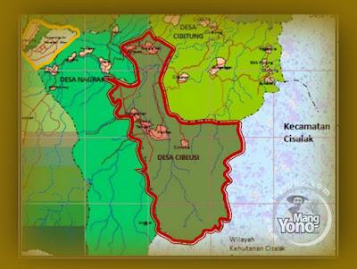 Peta Desa Cibeusi, Kecamatan Ciater