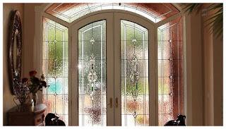 Unsur dekoratif elemen kaca patri bevel