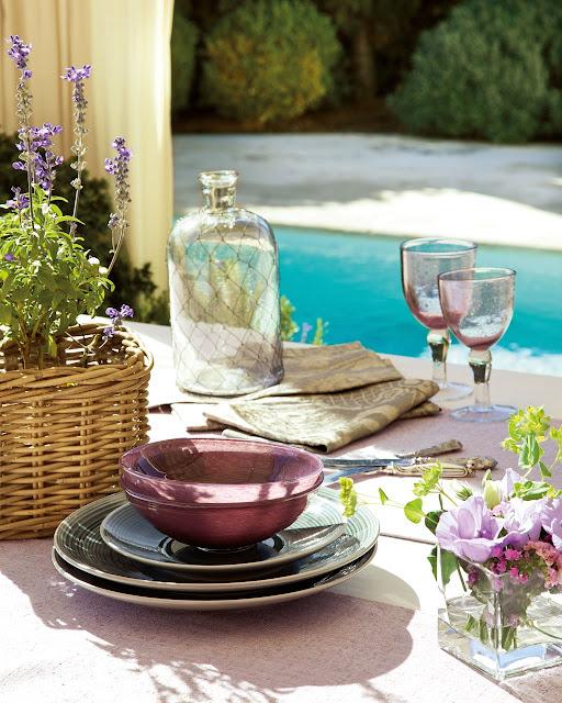 table setting in mediterranean style | elmueble