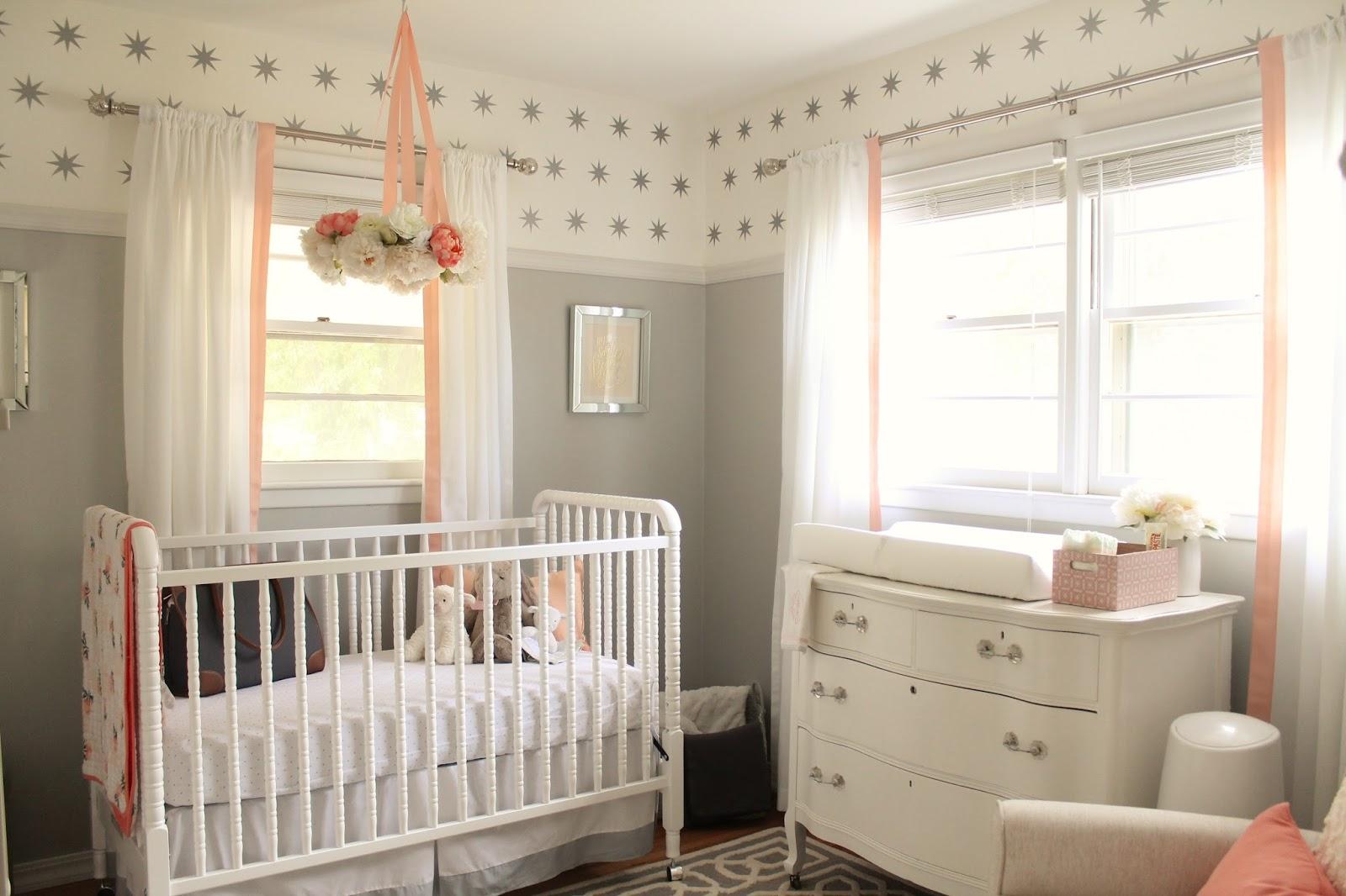 Peach And Gray Nursery Reveal