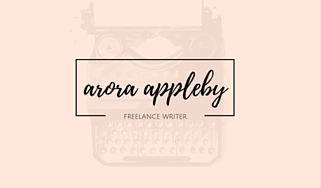 arora appleby, business card, freelance writer